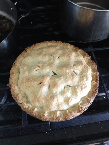 apple pie cooked